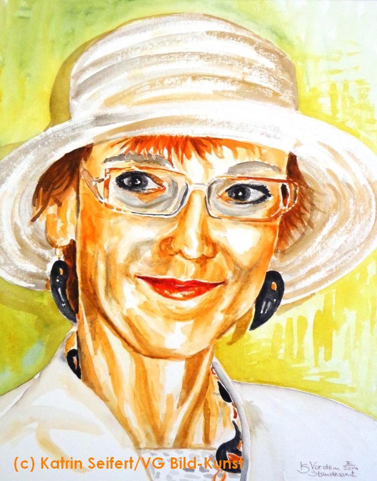 Vor dem Standesamt, Portrait, Katrin Seifert