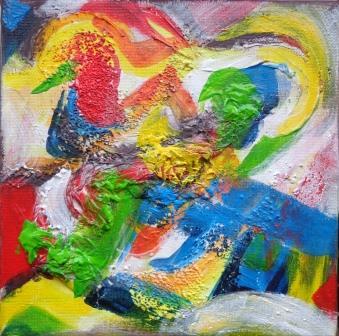 Abstrakt, Mixedmedia, Katrin Seifert
