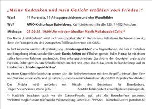 Flyer, Erzähl-Galerie, Babelsberg, Katrin Seifert